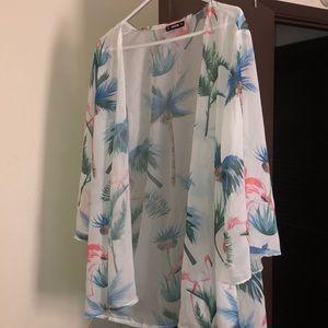 White lightweight kimono